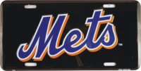 New York Mets (Black) License Plate