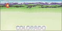 Design It Yourself Custom Colorado State Look-Alike Plate #2