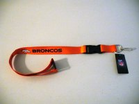 Denver Broncos Lanyard With Neck Safety Latch