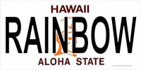 HA Rainbow Photo License Plate