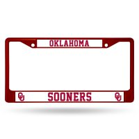 Oklahoma Sooners Anodized Red License Plate Frame