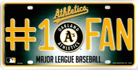 Oakland Athletics #1 Fan Metal License Plate