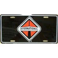 International on Black License Plate