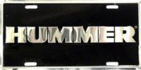 Hummer Black and Chrome License Plate