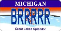 Design It Yourself Michigan State Look-Alike Bicycle Plate