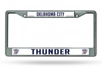 Oklahoma City Thunder Chrome License Plate Frame