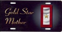 Gold Star Mother License Plate
