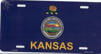 Design It Yourself Custom Kansas State Look-Alike Plate #4