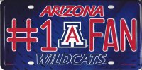 Arizona Wildcats #1 Fan Metal License Plate
