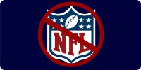 Boycott NFL Photo License Plate