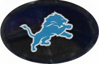 Detroit Lions Chrome Die Cut Oval Decal