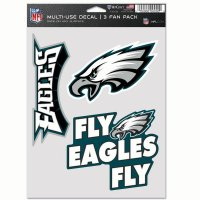 Philadelphia Eagles 3 Fan Pack Decals