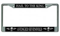 "Avenged Sevenfold ""Hail To The King"" Chrome License Plate Frame"