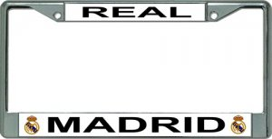 Real Madrid Chrome License Plate Frame