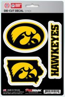 Iowa Hawkeyes Team Decal Set