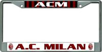 AC Milan Football Club Chrome License Plate Frame