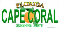Florida Cape Coral State Look a Like Photo License Plate