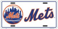 New York Mets (White) License Plate