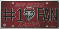 New Mexico Lobos #1 Fan License Plate