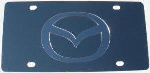Mazda Stainless Steel License Plate