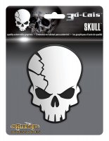3D Cals Skull Chrome Plastic Decal