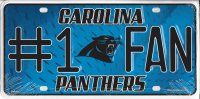Carolina Panthers #1 Fan License Plate