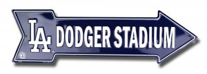 Los Angeles Dodger Stadium Arrow Street Sign