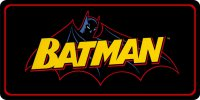 Batman Comic Logo Photo License Plate
