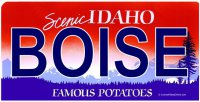 ID Boise Photo License Plate