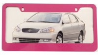 Blank Smooth Pink 2-Hole License Plate Frame