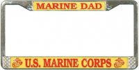 U.S. Marine Dad License Plate Frame