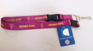 Arizona State Sun Devils Team Lanyard With Safety Latch