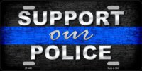 Support Our Police Metal License Plate