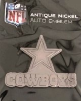 Dallas Cowboys Antique Nickel Auto Emblem