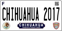 Chihuahua Mexico Photo License Plate