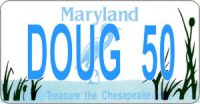 Design It Yourself Maryland State Look-Alike Bicycle Plate #2