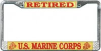U.S. Marine Retired License Plate Frame