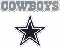 Dallas Cowboys 2pc Team Magnet Set
