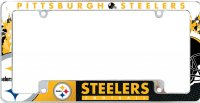 Pittsburgh Steelers All Over Chrome License Plate Frame