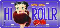Betty Boop HI ROLLER License Plate