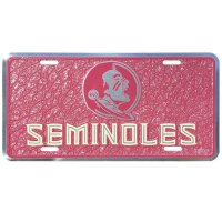 Florida State Seminoles Mosaic Metal License Plate