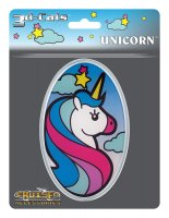 3D Cals Unicorn Chrome Plastic Decal