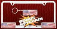 Patriotic Heavy Duty Die-Cast Zinc License Frame