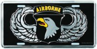 101st Airborne Wings License Plate