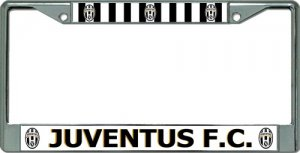 Juventus Football Club Chrome License Plate Frame