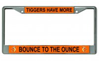 Tiggers Have More Bounce Photo License Plate Frame