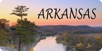 Arkansas River Scene Photo License Plate