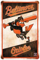 Baltimore Orioles Retro Parking Sign