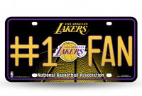 Los Angeles Lakers #1 Fan Glitter License Plate