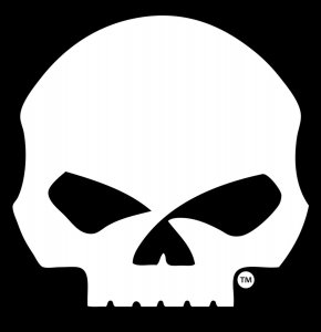 Harley-Davidson Willie G Skull Large Window Decal